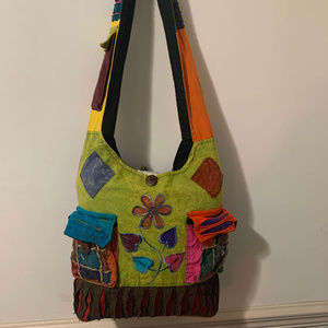 Other - Colorful handmade reusable tote